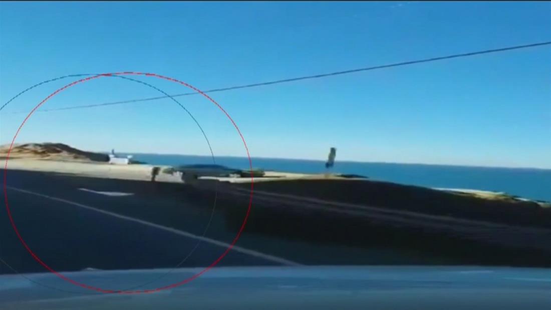 Captan en cámara el momento en que auto cae por un acantilado en California